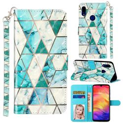 Stitching Marble 3D Leather Phone Holster Wallet Case for Mi Xiaomi Redmi 7