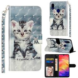 Kitten Cat 3D Leather Phone Holster Wallet Case for Mi Xiaomi Redmi 7