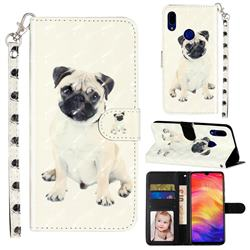 Pug Dog 3D Leather Phone Holster Wallet Case for Mi Xiaomi Redmi 7