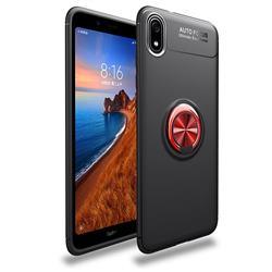 Auto Focus Invisible Ring Holder Soft Phone Case for Mi Xiaomi Redmi 7A - Black Red