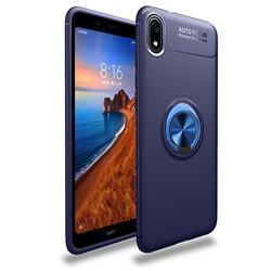 Auto Focus Invisible Ring Holder Soft Phone Case for Mi Xiaomi Redmi 7A - Blue