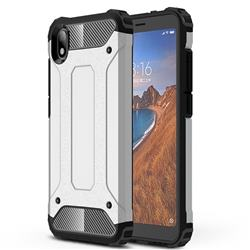 King Kong Armor Premium Shockproof Dual Layer Rugged Hard Cover for Mi Xiaomi Redmi 7A - White