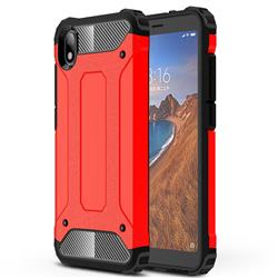 King Kong Armor Premium Shockproof Dual Layer Rugged Hard Cover for Mi Xiaomi Redmi 7A - Big Red