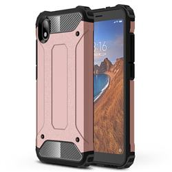 King Kong Armor Premium Shockproof Dual Layer Rugged Hard Cover for Mi Xiaomi Redmi 7A - Rose Gold