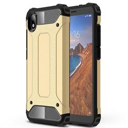King Kong Armor Premium Shockproof Dual Layer Rugged Hard Cover for Mi Xiaomi Redmi 7A - Champagne Gold