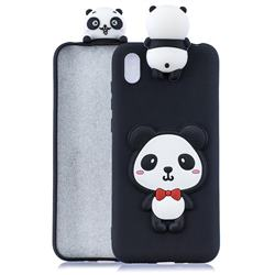 Red Bow Panda Soft 3D Climbing Doll Soft Case for Mi Xiaomi Redmi 7A