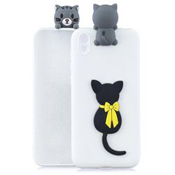 Little Black Cat Soft 3D Climbing Doll Soft Case for Mi Xiaomi Redmi 7A
