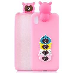 Expression Bear Soft 3D Climbing Doll Soft Case for Mi Xiaomi Redmi 7A
