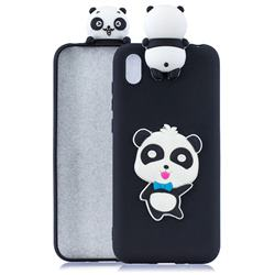 Blue Bow Panda Soft 3D Climbing Doll Soft Case for Mi Xiaomi Redmi 7A