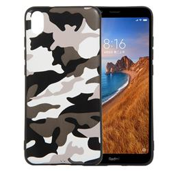 Camouflage Soft TPU Back Cover for Mi Xiaomi Redmi 7A - Black White