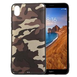 Camouflage Soft TPU Back Cover for Mi Xiaomi Redmi 7A - Gold Coffee