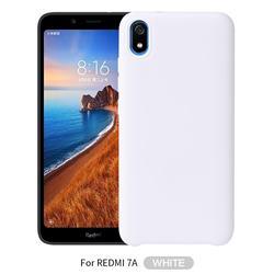Howmak Slim Liquid Silicone Rubber Shockproof Phone Case Cover for Mi Xiaomi Redmi 7A - White