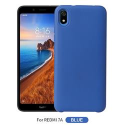 Howmak Slim Liquid Silicone Rubber Shockproof Phone Case Cover for Mi Xiaomi Redmi 7A - Sky Blue