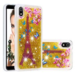 Golden Tower Dynamic Liquid Glitter Quicksand Soft TPU Case for Mi Xiaomi Redmi 7A