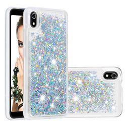 Dynamic Liquid Glitter Quicksand Sequins TPU Phone Case for Mi Xiaomi Redmi 7A - Silver