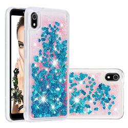 Dynamic Liquid Glitter Quicksand Sequins TPU Phone Case for Mi Xiaomi Redmi 7A - Blue
