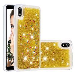 Dynamic Liquid Glitter Quicksand Sequins TPU Phone Case for Mi Xiaomi Redmi 7A - Golden