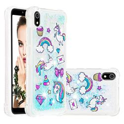 Fashion Unicorn Dynamic Liquid Glitter Sand Quicksand Star TPU Case for Mi Xiaomi Redmi 7A