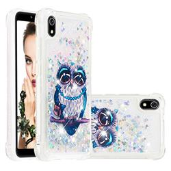 Sweet Gray Owl Dynamic Liquid Glitter Sand Quicksand Star TPU Case for Mi Xiaomi Redmi 7A