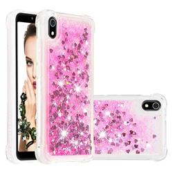 Dynamic Liquid Glitter Sand Quicksand TPU Case for Mi Xiaomi Redmi 7A - Pink Love Heart