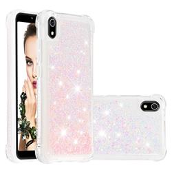 Dynamic Liquid Glitter Sand Quicksand TPU Case for Mi Xiaomi Redmi 7A - Silver Powder Star