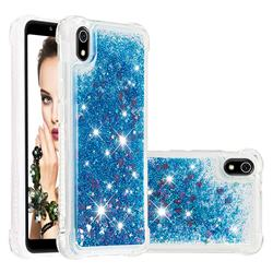Dynamic Liquid Glitter Sand Quicksand TPU Case for Mi Xiaomi Redmi 7A - Blue Love Heart