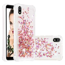 Dynamic Liquid Glitter Sand Quicksand TPU Case for Mi Xiaomi Redmi 7A - Rose Gold Love Heart