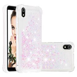 Dynamic Liquid Glitter Sand Quicksand Star TPU Case for Mi Xiaomi Redmi 7A - Pink