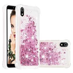Dynamic Liquid Glitter Sand Quicksand Star TPU Case for Mi Xiaomi Redmi 7A - Diamond Rose