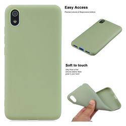 Soft Matte Silicone Phone Cover for Mi Xiaomi Redmi 7A - Bean Green