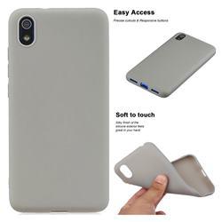 Soft Matte Silicone Phone Cover for Mi Xiaomi Redmi 7A - Gray