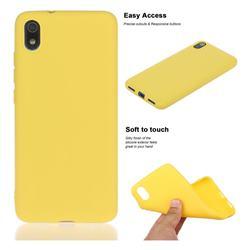 Soft Matte Silicone Phone Cover for Mi Xiaomi Redmi 7A - Yellow