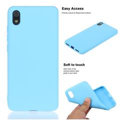 Soft Matte Silicone Phone Cover for Mi Xiaomi Redmi 7A - Sky Blue
