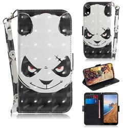 Angry Bear 3D Painted Leather Wallet Phone Case for Mi Xiaomi Redmi 7A