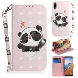 Heart Cat 3D Painted Leather Wallet Phone Case for Mi Xiaomi Redmi 7A