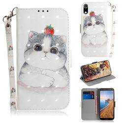 Cute Tomato Cat 3D Painted Leather Wallet Phone Case for Mi Xiaomi Redmi 7A