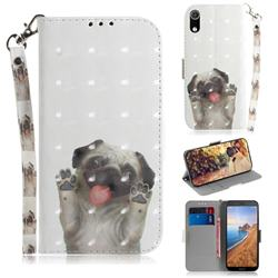 Pug Dog 3D Painted Leather Wallet Phone Case for Mi Xiaomi Redmi 7A