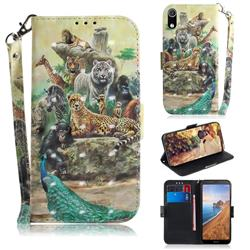 Beast Zoo 3D Painted Leather Wallet Phone Case for Mi Xiaomi Redmi 7A