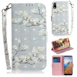 Magnolia Flower 3D Painted Leather Wallet Phone Case for Mi Xiaomi Redmi 7A
