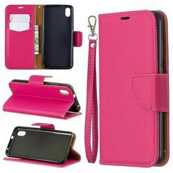Classic Luxury Litchi Leather Phone Wallet Case for Mi Xiaomi Redmi 7A - Rose