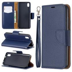 Classic Luxury Litchi Leather Phone Wallet Case for Mi Xiaomi Redmi 7A - Blue