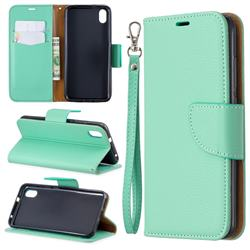 Classic Luxury Litchi Leather Phone Wallet Case for Mi Xiaomi Redmi 7A - Green