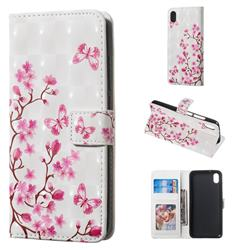 Butterfly Sakura Flower 3D Painted Leather Phone Wallet Case for Mi Xiaomi Redmi 7A