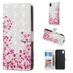 Cherry Blossom 3D Painted Leather Phone Wallet Case for Mi Xiaomi Redmi 7A