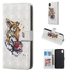 Toothed Tiger 3D Painted Leather Phone Wallet Case for Mi Xiaomi Redmi 7A