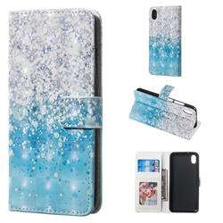 Sea Sand 3D Painted Leather Phone Wallet Case for Mi Xiaomi Redmi 7A