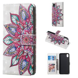 Mandara Flower 3D Painted Leather Phone Wallet Case for Mi Xiaomi Redmi 7A
