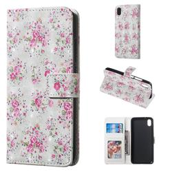 Roses Flower 3D Painted Leather Phone Wallet Case for Mi Xiaomi Redmi 7A