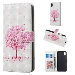 Sakura Flower Tree 3D Painted Leather Phone Wallet Case for Mi Xiaomi Redmi 7A