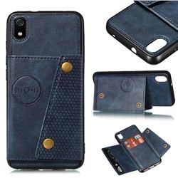 Retro Multifunction Card Slots Stand Leather Coated Phone Back Cover for Mi Xiaomi Redmi 7A - Blue